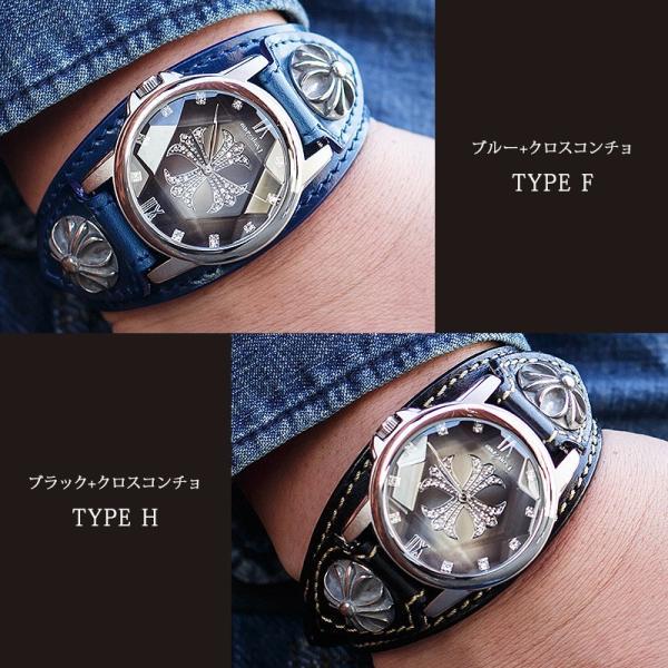 腕時計 メンズ 本革 イタリンレザー ベルト グラデーション 文字盤 コンチョ カジュアル腕時計|cowbell|12