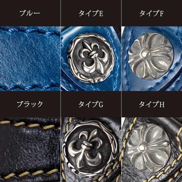 腕時計 メンズ 本革 イタリンレザー ベルト グラデーション 文字盤 コンチョ カジュアル腕時計|cowbell|08