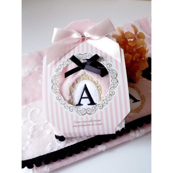 アルファベット タオルハンカチ「N」(ラッピング付き) タオルハンカチ プチギフト ホワイトデー ギフト 内祝い お返し 誕生日 ハンドクリーム プレゼント 女性|cozymom|04