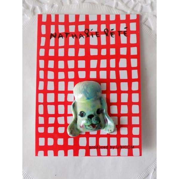 (ナタリー・レテ NATHALIE LETE)NL169   ピンズ「Poodle」 pins プードルブローチ ピンバッジ アニマル  犬 ドッグ フランスプチギフト ギフト 誕生日 アク