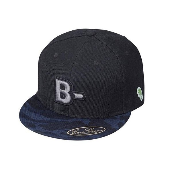 EG B-TRUE フラットキャップ タイプB ブルーカモ*BK