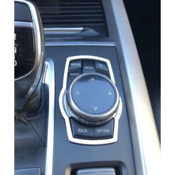 BMW idrive ナビ スイッチ コントローラ トリム シルバー E53E60E61E65E66E70E71E83E87E90E91E92E93F01F10F11F12F20F25F30F31F34F39F45F46F48 cpld 03