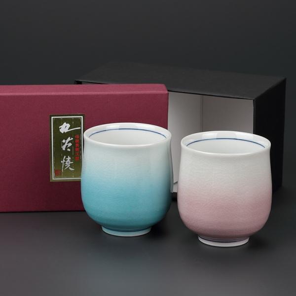 九谷焼 組湯呑 みやび2個セット 化粧箱入 craft-crowd 02