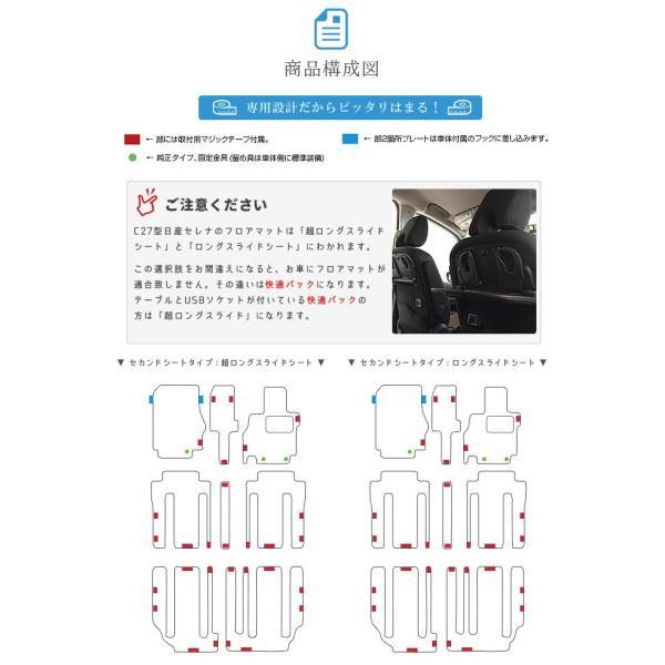 C27 セレナ フロアマット STDマット 日産 H28/8〜現行モデル 車1台分 フロアマット 純正 TYPE カーマット|craft-mart|03
