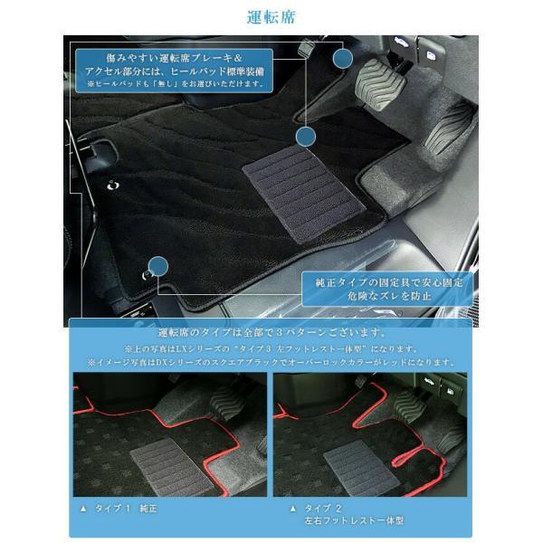 C27 セレナ フロアマット STDマット 日産 H28/8〜現行モデル 車1台分 フロアマット 純正 TYPE カーマット|craft-mart|08