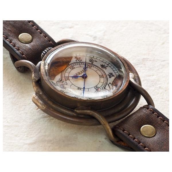 手作り腕時計 ハンドメイド ARKRAFT(アークラフト) Curtis jumbo 漢数字 プレミアムストラップ/アンティーク調/レトロ/和風