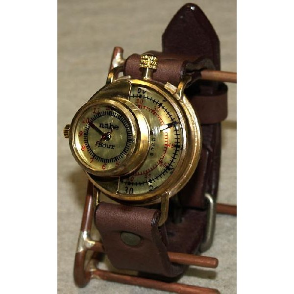 手作り腕時計 ハンドメイド 渡辺工房 SCOPE-L ジャンボブラス/アンティーク調/レトロ