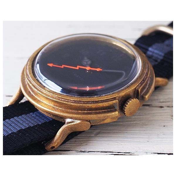 手作り腕時計 ハンドメイド GENSO(ゲンソウ)  Second ミニマルウォッチ ブラック文字盤 真鍮 NATOナイロンベルト
