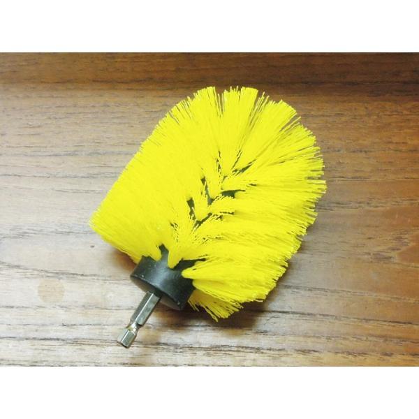送料無料 家庭用 「研磨のミツクラ 新型 ミツクラブラシミニ 砲弾型」  電動ドリル、電動ドライバーでブラシ磨き 選べる硬さ2種類