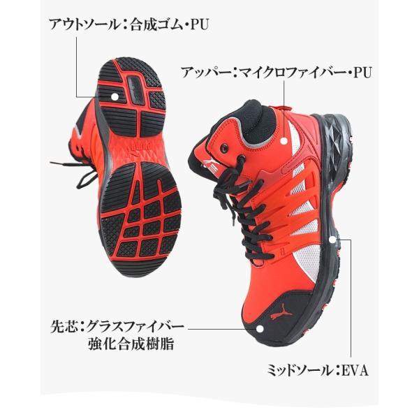 安全靴 プーマ PUMA ハイカット ヴェロシティ JSAA A種認定  VELOCITY2.0|craftworks|05