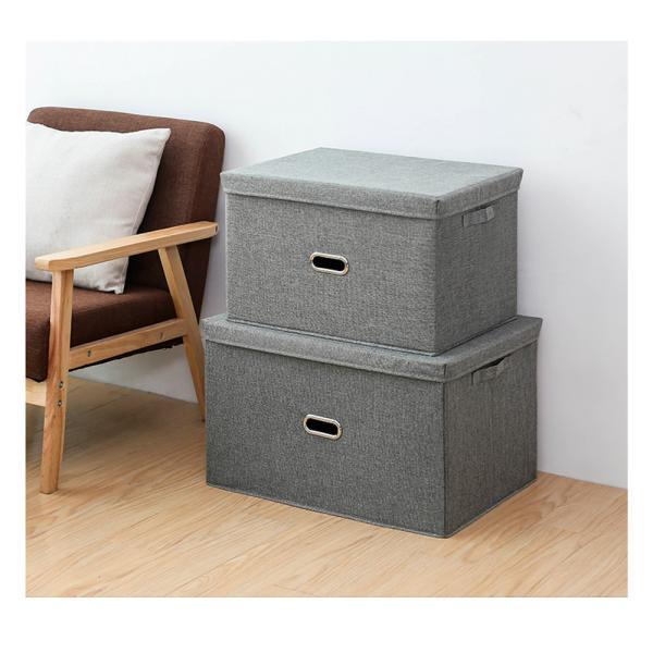 2個セット 収納ケース フタ付き 折り畳み ファブリックボックス 収納ボックス おしゃれ 丈夫 大容量 バスケット 押し入れ収納 衣装ケース 布製 送料無料 cran 07