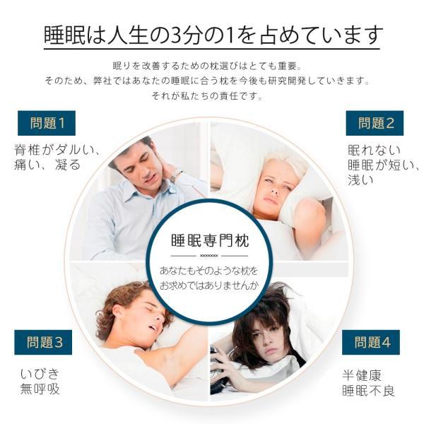 枕 まくら 肩こり 頸椎サポート 健康枕 ストレートネック おすすめ 整体枕 安眠枕 快眠枕 いびき防止 肩こり対策 低反発枕 首こり 無呼吸|cran|07