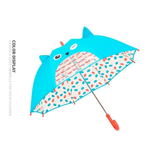 子供用傘 キッズ 3Dアンブレラ 幼稚園児 動物 可愛い グラスファイバー 窓付 男の子 女の子 通園 通学 軽量 誕生日プレゼント 送料無料|cran|12