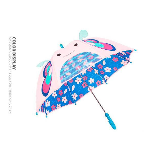 子供用傘 キッズ 3Dアンブレラ 幼稚園児 動物 可愛い グラスファイバー 窓付 男の子 女の子 通園 通学 軽量 誕生日プレゼント 送料無料|cran|16