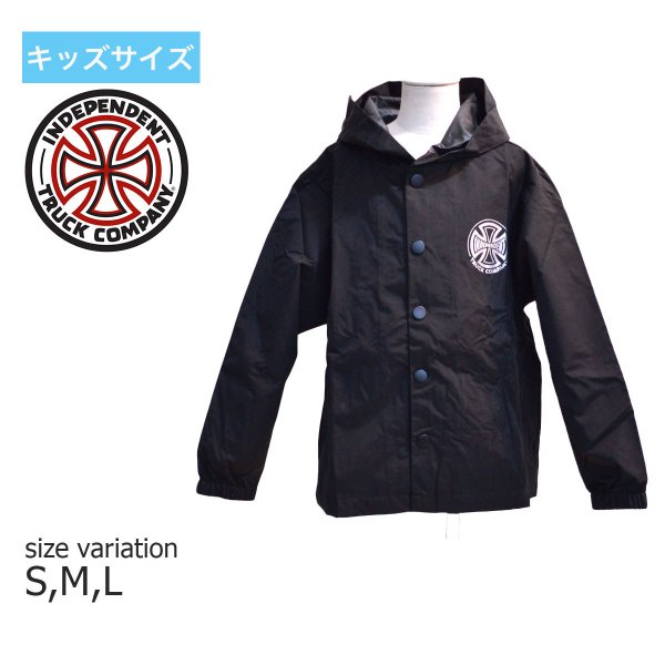 62d247da2ec7 INDEPENDENT コーチジャケット 子供服 YOUTH HOODY COACH JACKET ユースサイズ インデペンデント キッズ ナイロン  ...