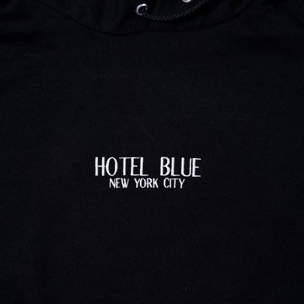 HOTEL BLUE NYC SKATE パーカー LOGO CHAMPION HOODIE ホテル ブルー スケート ボード スウェット プルオーバー メンズ スケボー ストリート SKATEBOARD COLD|crass|03