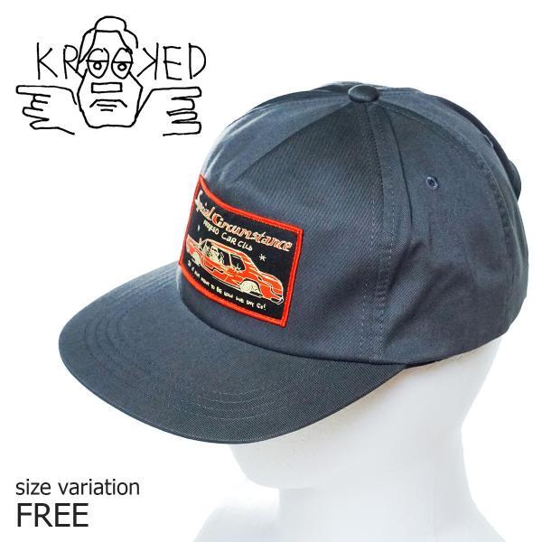 キャップ 帽子 スケボー マークゴンザレス KROOKED SNAPBACK CAPクルキッド クルックド|crass