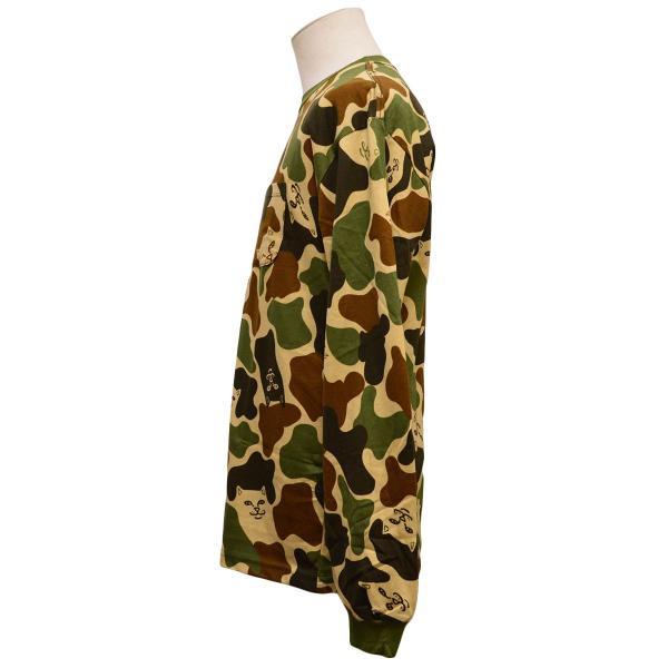 RIPNDIP Tシャツ ロンT Lord Nermal Pocket L/S Army Camo カモ 迷彩 リップンディップ ロングスリーブ メンズ レディース スケートボード ねこ|crass|03