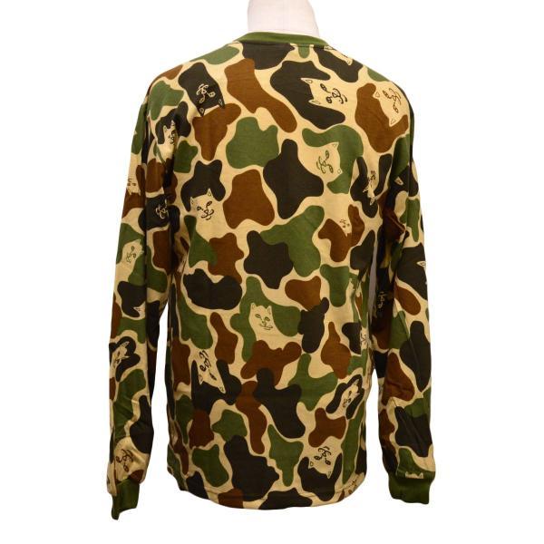 RIPNDIP Tシャツ ロンT Lord Nermal Pocket L/S Army Camo カモ 迷彩 リップンディップ ロングスリーブ メンズ レディース スケートボード ねこ|crass|04