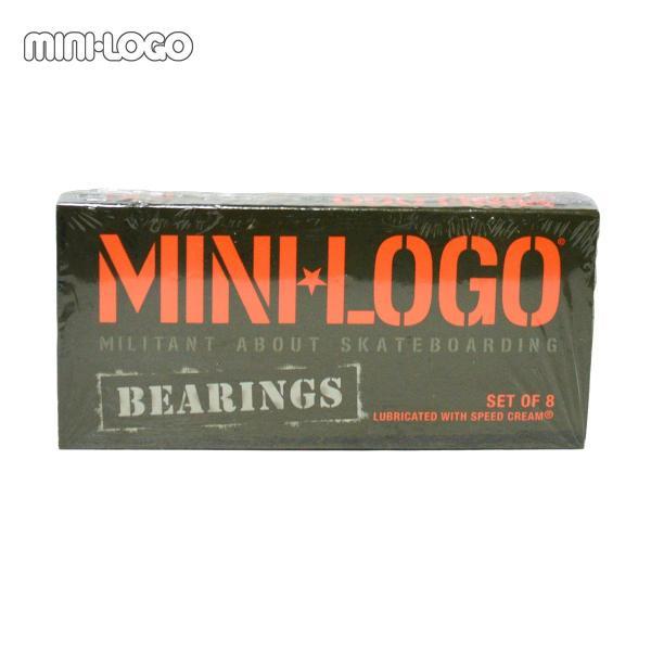 スケートボード ベアリング  MINI-LOGO ミニロゴ パーツ スケボーABEC5相当 |crass