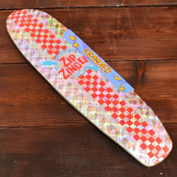 KROOKED デッキ スケートボード gonz クルーザー DECK 7.125 ZIP ZINGER NANO HOLO クルキッド クルックド ナノ クルージング SKATEBOARD ミニ ホログラム|crass