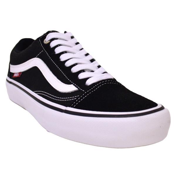 VANS スニーカー オールドスクール old skool PRO バンズ 黒 白 25 26 27 BLACK WHITE スケボー メンズ スケシュー SK8 靴|crass|02