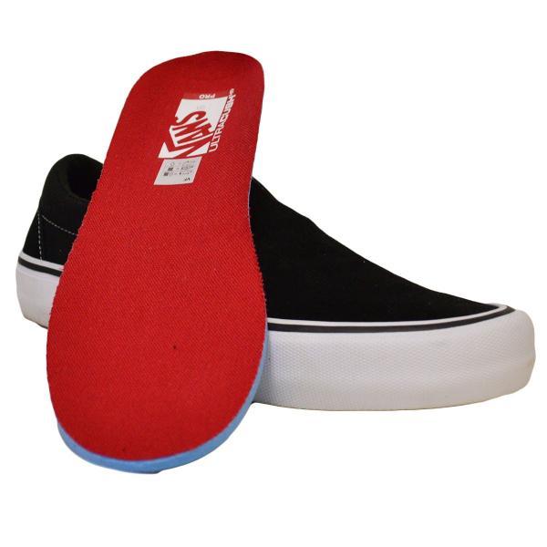 VANS スニーカー スリッポン オールドスクール old skool SLIP ON PRO バンズ 黒 白 25 26 27 BLACK WHITE スケボー メンズ スケシュー SK8 靴|crass|06