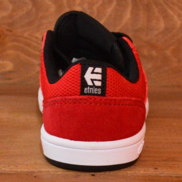 etnies MARANA KIDS エトニーズ スニーカー スケートボード 16.5 18 19 20 21 22 23 BLACK RED ジュニア 子供 ベビー スケボー スケート 黒 赤 運動靴|crass|03