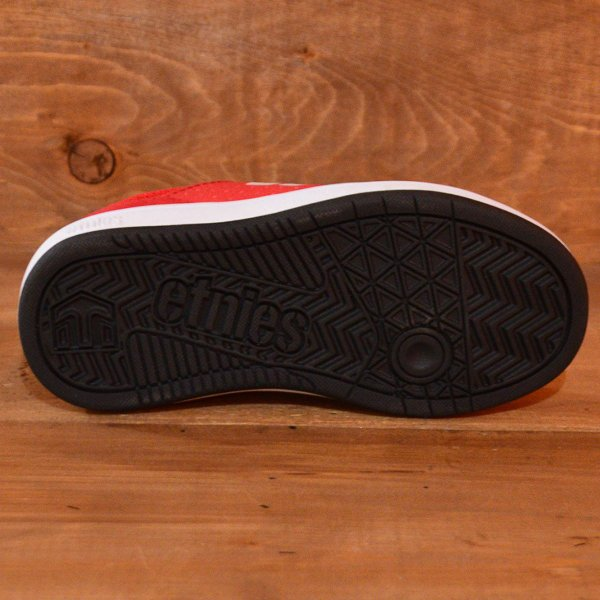 etnies MARANA KIDS エトニーズ スニーカー スケートボード 16.5 18 19 20 21 22 23 BLACK RED ジュニア 子供 ベビー スケボー スケート 黒 赤 運動靴|crass|04