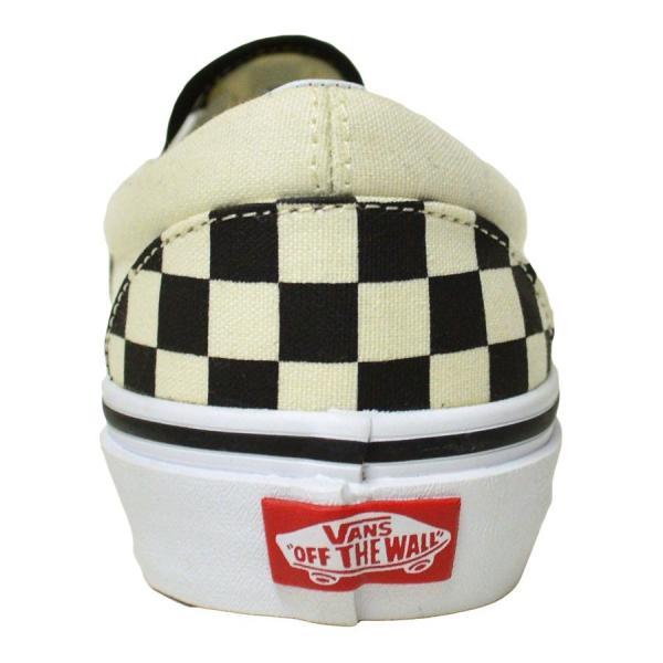 VANS スニーカー スリッポン バンズ オールドスクール classic SLIP ON 23 23.5 24 24.5 25 25.5 26 26.5 CHECKEN WHITE スケボー レディース メンズ スケシュー|crass|03