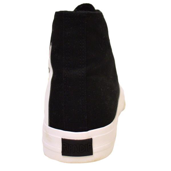 RIPNDIP スケートボード スニーカー リップンディップ Nerm High ユニセックス ハイカット BLACK ブラック スケボー ストリート ネコ ねこ 黒|crass|04