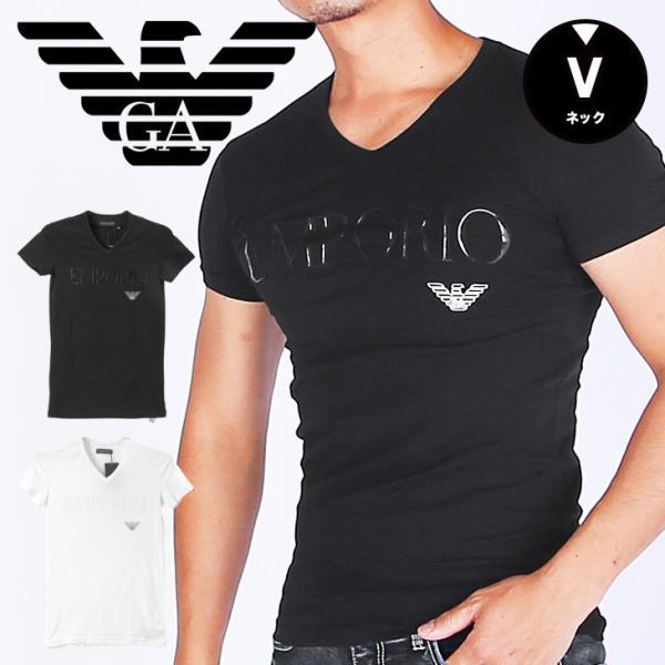セールエンポリオアルマーニEMPORIOARMANIメンズTシャツVネック半袖ロゴブランドEAかっこいい