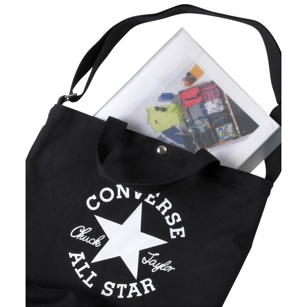 CONVERSE 2WAYトートバッグ キャンバス ビッグロゴ メンズ レディース 男女兼用 コンバース
