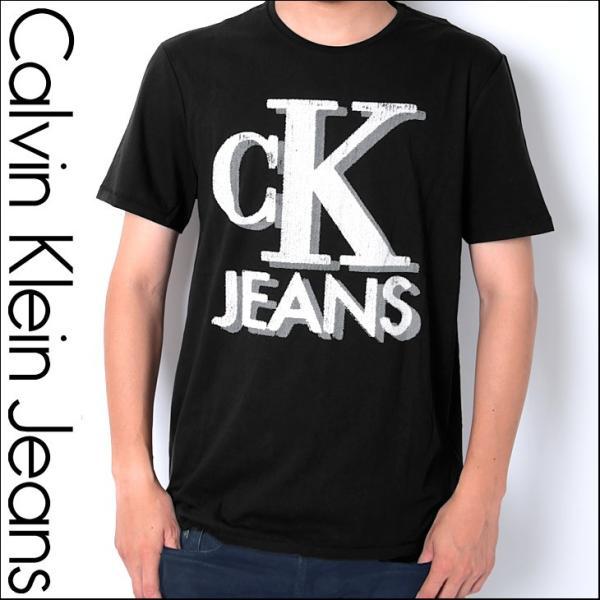 カルバンクラインジーンズ Tシャツ メンズ 半袖 ブランド トップス カットソー ロゴプリント OLD SCHOOL LOGO CKJ Calvin Klein|crazyferret