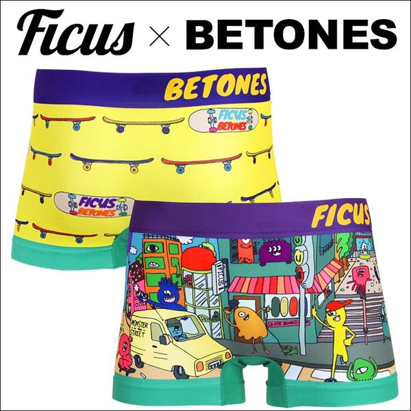 ビトーンズ ボクサーパンツ メンズ フリーサイズ MONSTER STREET BETONES x FICUS