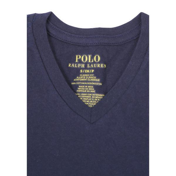 ラルフローレン Tシャツ 2枚セット 半袖 無地 Vネック キッズ まとめ買い ブランド RALPH LAUREN|crazyferret|02