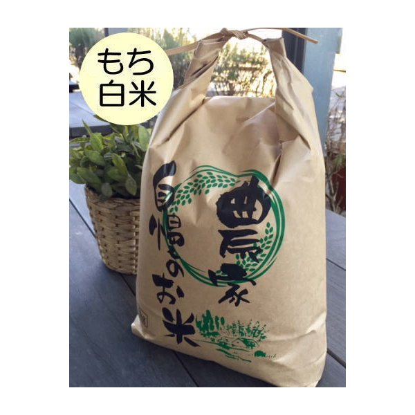 もち白米5kg はぜかけ米(天日干し・自然乾燥) 石川ファーム自然栽培米/無農薬