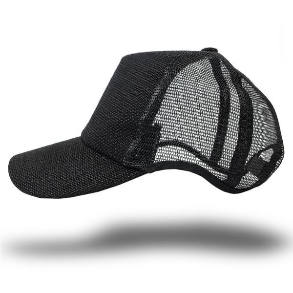 大きいサイズ帽子LXLキャップ無地ヘンプラウンドキャップオールブラックBIGWATCH正規品ダメージ加工無し/ビッグワッチアメカ