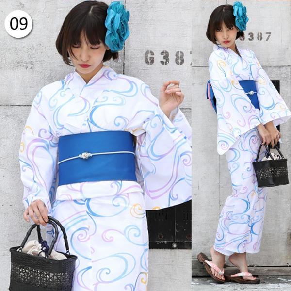 浴衣 セット レトロ レディース 浴衣セット ゆかた 浴衣+帯 作り帯+下駄 3点セット 大きいサイズ|cream-ivony|12