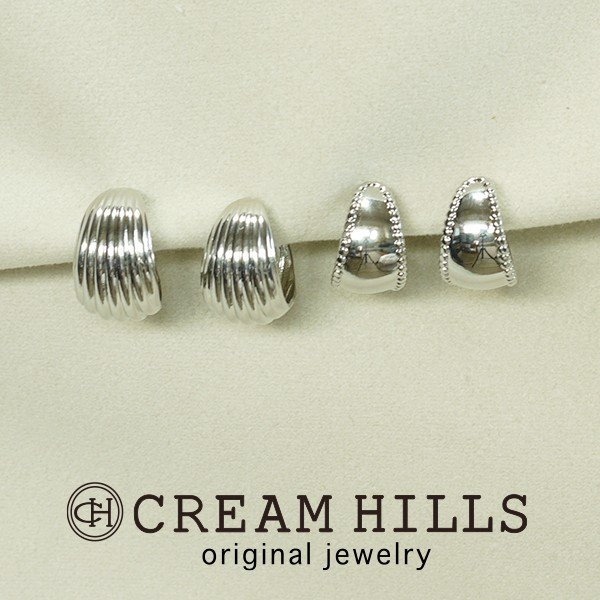 レディースピアス2ペアセットCREAM HILLS 日本製 ミニメタルG型 クリームヒルズ|creamhills
