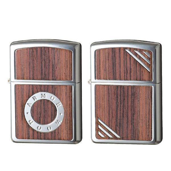 代引・同梱不可 Zippo(ジッポー) ライター アーマー・ローズウッド デザイン 木 プレゼント