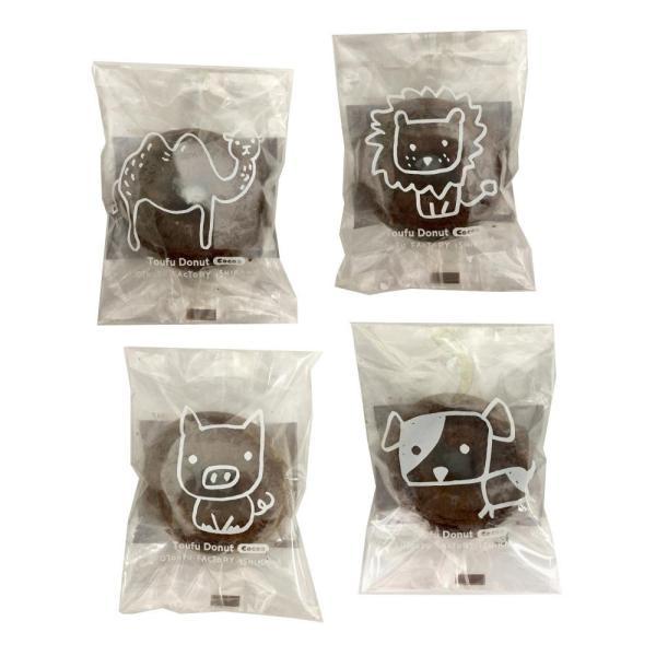 代引・同梱不可 どうぶつ とうふドーナツ ココア 1P(30袋) 豆腐 お菓子 スウィーツ