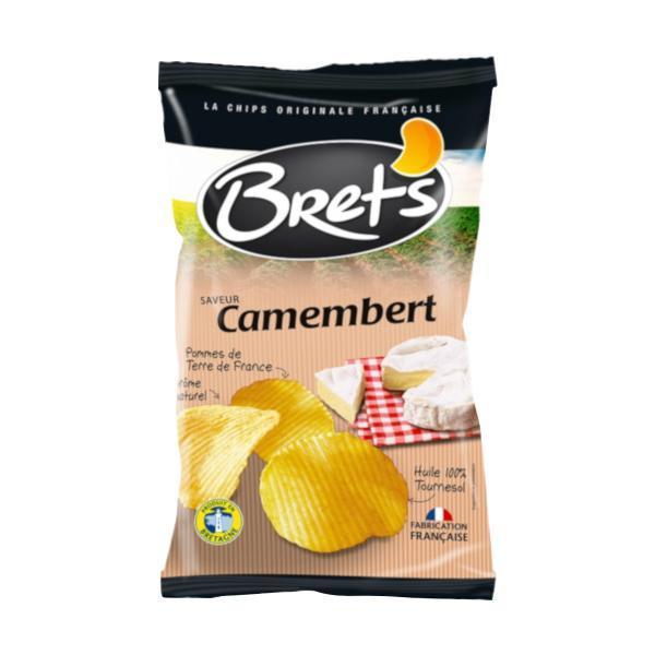 代引・同梱不可 Brets(ブレッツ) ポテトチップス カマンベールチーズ 125g×10袋