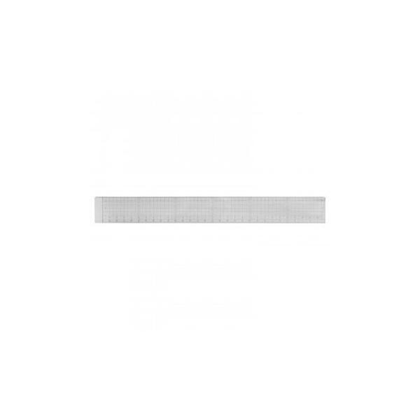代引・同梱不可 方眼カッティング定規 30cm(溝付き)ステンレスエッジ付き 014-0125