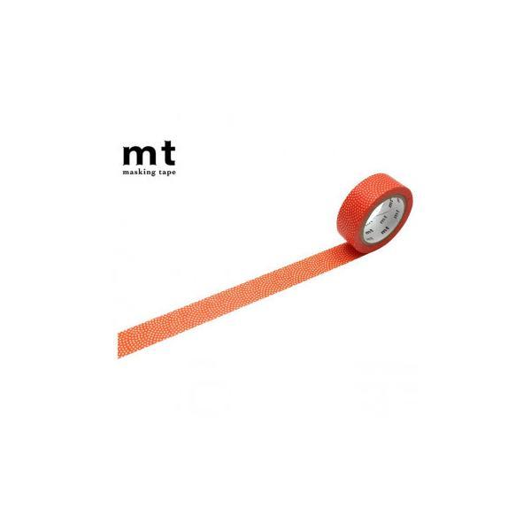 代引・同梱不可 マスキングテープ mt 8P 鮫小紋・赤橙 幅15mm×7m 同色8巻パック MT08D465