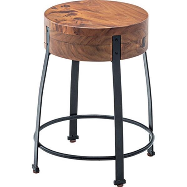 ウッドスツール 幅38×高さ46cm スツール 椅子 サイドテーブル モンキーポッド cafe カフェ おしゃれ 木製 JW-107