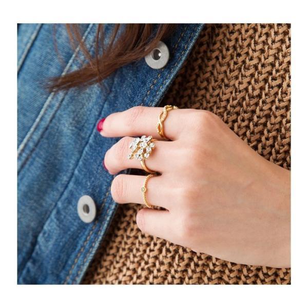 リング 重ね着け 指輪 ピンキーリング 誕生月カラー ゴールド シルバー ピンクゴールド ジルコニア 華奢 結婚式 大人 ゆうパケット送料無料
