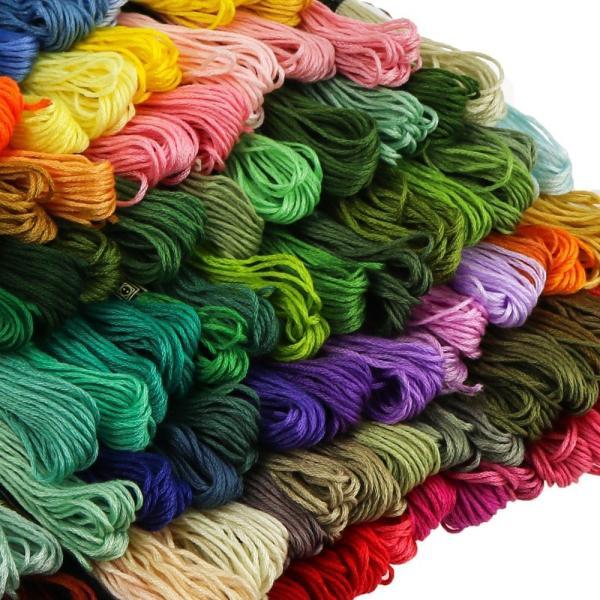 刺繍糸 刺しゅう糸 セット 100束セット 編み物 ステッチ ミサンガ クロスステッチ  まとめ買い|creez|03