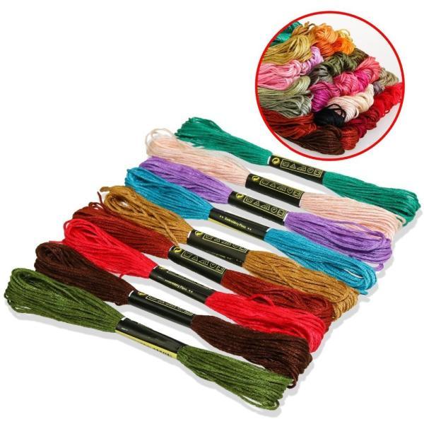 刺繍糸 刺しゅう糸 セット 100束セット 編み物 ステッチ ミサンガ クロスステッチ  まとめ買い|creez|04
