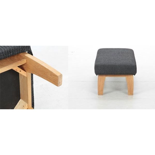 ベンチチェア 1脚のみ 幅120cm ラバーウッド材 ファブリック(グレー) ベンチいす イス 腰掛 腰掛け 腰かけ ベンチイス 長椅子 背もたれ無し 北欧 椅子|crescent|02
